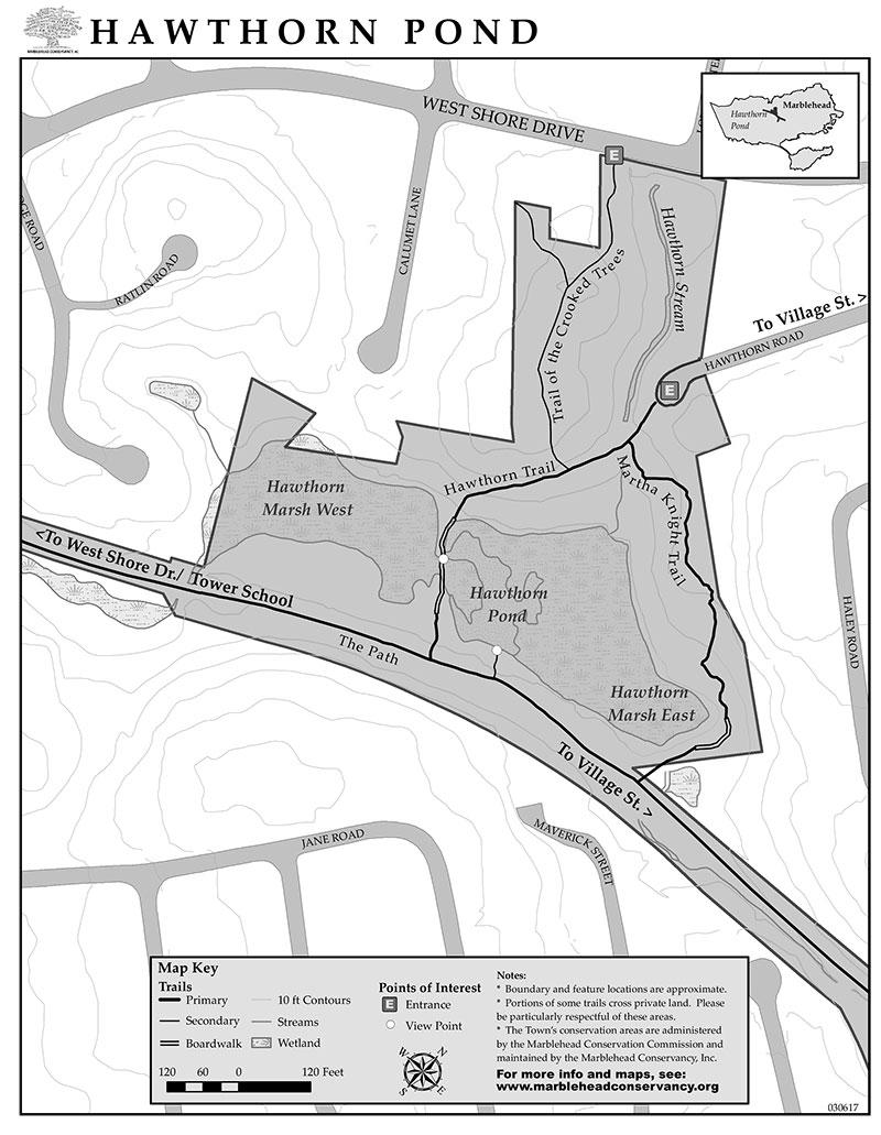 hawthorn pond map marblehead ma