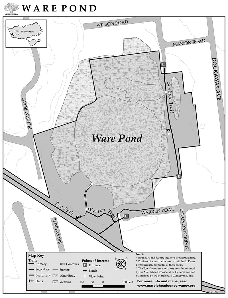 ware pond map marblehead ma