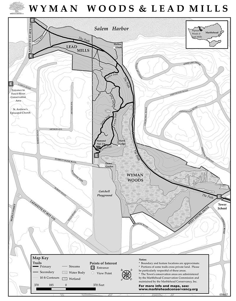 wyman woods lead mills map marblehead ma