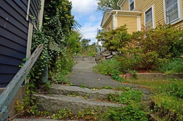 Half way up Alley Steps