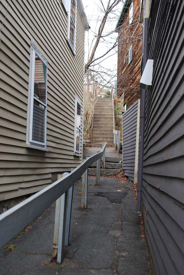 Lower section of alley